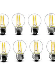 3.5 E14 E27 Ampoules à Filament LED G45 4 COB 400 lm Blanc Chaud Décorative AC220 AC230 AC240 V 8 pièces