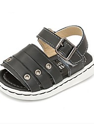 Kids' Sandals Summer First Walkers Cowhide Casual Flat Heel