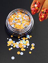 1bottle fashion nail art beauté colorée ronde mince coupe paillette ronde paillette nail art diy decoration p35
