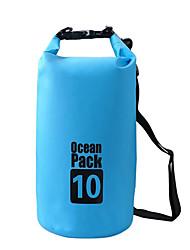 10 L Водонепроницаемый сухой мешок Отдыхитуризм Восхождение Плавание Пляж Водонепроницаемый Пригодно для носкиЗеленый Черный Оранжевый