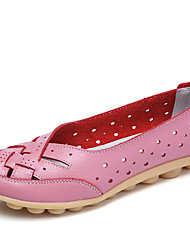 Damen-Loafers & Slip-Ons-Lässig-Leder-Flacher Absatz-Komfort Mokassin-