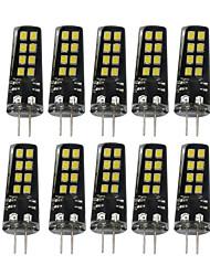 3W G4 Luci LED Bi-pin 16 SMD 2835 200-300 lm Bianco caldo Bianco Decorativo V 10 pezzi