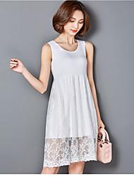 Tee-shirt Femme,Couleur Pleine Décontracté / Quotidien Plage simple Sans Manches A Bretelles Polyester