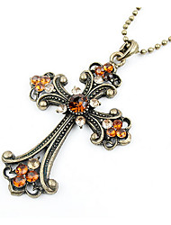Cross Euramerican Sweater Chain Pendant Necklace Vintage Women Jewelry