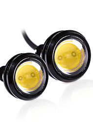 2pcs 18mm couleur blanche led aigle eye light daytime running drl backup car dc12v
