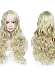 Top Quality Fiber Body Wave Synthetic Wigs Perm or Straighten No Dye Likes Pictures Color Heat Resistant Synthetic Hair Wigs