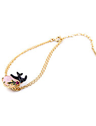 Women's Chain Bracelet Fashion Alloy Animal Shape Gold Jewelry For Special Occasion Christmas Gifts 1pc
