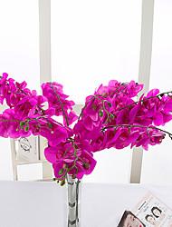 10 Ramo Couro Ecológico Orquideas Flor de Mesa Flores artificiais