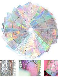 Лазерный полый ногтей 3d искусства наклейки для ногтей косметический дизайн 12pcs (случайный цвет)