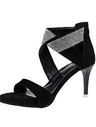 Damen-High Heels-Lässig-Stoff-Stöckelabsatz-Komfort-