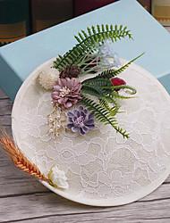 Tissu en tissu de lin-mariage occasion spéciale casque décontracté chaude épingle à cheveux 1 pièce
