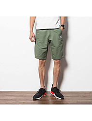 Men's Mid Rise Inelastic Chinos Shorts Pants Loose Solid