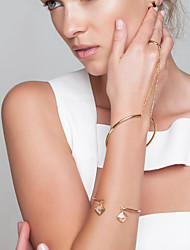 Femme Chaînes & Bracelets Bracelets Bagues Bijoux Mode Cuivre Or Argent Bijoux Pour Soirée Occasion spéciale 1pc