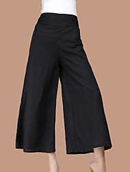 Women's High Rise Micro-elastic Chinos Business Pants,Street chic Simple Loose Solid