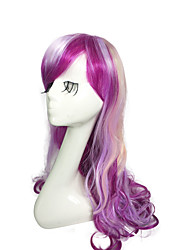 Rainbow Wig Colorful Wig Long Deep Wave Synthetic Fiber Wig