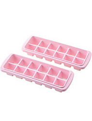 2 Pcs Plastic DIY Self Made Ice Mould Ice Box