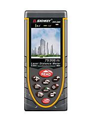 Sndway sw-q80 digital portátil 80m 635nm medidor de distância do laser (baterias aaa 1.5v)
