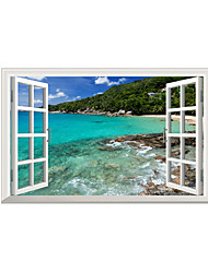 Wall Stickers Wall Decals Style Island Beach PVC Wall Stickers