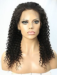Illusion Hairline Deep Curl Human Hair Lace front Wig For Blackwomen with Baby Hair