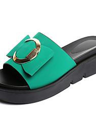 Damen Hausschuhe&Flip-Flops Sommer Komfort PU Outdoor Metallic Toe grün schwarz zu Fuß
