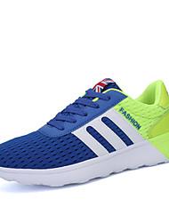 Homme-Extérieure Décontracté Sport-Noir BleuConfort-Chaussures d'Athlétisme-Sergé