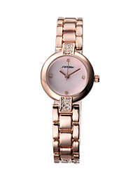 Women's Fashion Watch Chinese Quartz Alloy Band Silver Gold