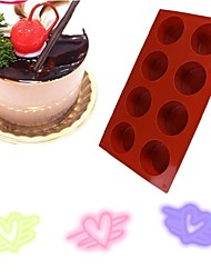 1 Pc 8 Holes Round Shape Silicone Cake Mold 3D Handmade Cupcake Jelly Pudding Cookie Mini Muffin  Mold DIY Baking Tools