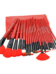 24 Makeup Brushes Make-up Tools Make-up Beauty Tools 24 Large Red Professional Makeup Brush Set