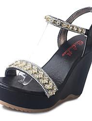 Damen-High Heels-Lässig-PU-Keilabsatz-Komfort-