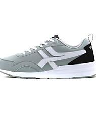 Chaussures de sport pour hommes, printemps, confort, suède, tulle, décontracté, bleu, rouge, gris