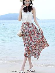 Women's Maxi Skirts,Simple A Line Geometric
