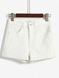 Basic ulzzang Korean high waist was thin solid color shorts candy colors AA stretch trousers
