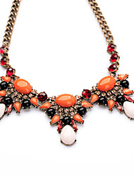 Women's Strands Necklaces Crystal Chrome Euramerican Personalized Simple Style Orange Jewelry For Wedding Party Congratulations 1pc