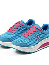 Для женщин Спортивная обувь Удобная обувь Светодиодные подошвы Тюль Весна Лето Осень Для прогулок Повседневный Для занятий спортомБеговая