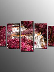 Impression photographique paysage moderne, cinq panneaux toile toute forme impression mur décor pour décoration de la maison