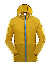 Homens Jaqueta Blusas Acampar e Caminhar Pesca Alpinismo De Excursionismo MotoclicletaRespirável Secagem Rápida A Prova de Vento