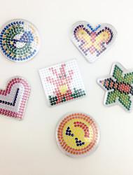 Kit de Bricolage Jouet Educatif Puzzle Art & Dessin Nouveautés & Farces Circulaire Carré Forme de Coeur Plastique EVA