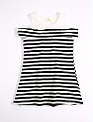 Girl's Casual/Daily Striped Dress,Cotton Summer
