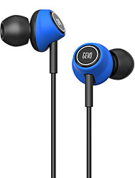 GEVO Gv6 Stereo Ergo-Fit Music In-Ear Headphones with Microphone Inline Controls for IOS/ Android Built-in Mic Hands-free Calling Extra Earbuds(Blue)