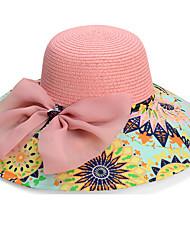 Rainbow Summer Straw Hat Cap Beautiful Flower Girl&lady Round Wide Brim Hawaii Folding Soft Sun Hat Casual Foldable Brimmed Beach Hats