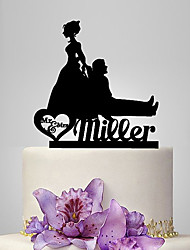 Personalized Acrylic Funny Wedding Cake Topper