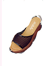 Mujer-Tacón Cuña-Confort-Sandalias-Exterior-Tul-