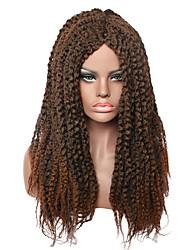 Fashion longues perruques tressées brunes pour perruques synthétiques pour cheveux noirs pour femmes
