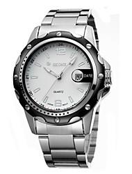 Masculino Relógio de Moda Chinês Quartzo Calendário Impermeável Noctilucente Lega Banda Prata