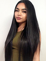 Black Color Synthetic Lace Front Wigs Silky Straight Hair Heat Resistant Fiber Hair Wig