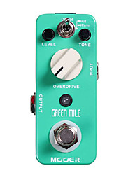 Mooer Green Mile Overdrive Pedal 2 Working Modes Full Metal Shell True Bypass
