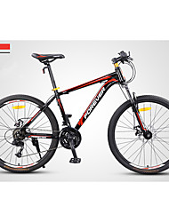 Mountain Bike Cycling 24 Speed 26 Inch/700CC Double Disc Brake Suspension Fork Steel Frame Anti-slip PVC Steel