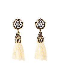 Women's Drop Earrings Pendant Tassel Euramerican Luxury Fashion Fabric Alloy Geometric Jewelry For Gift Casual Outdoor
