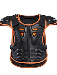 Kids Back Brace Chest Support Professional Protective Snowboarding Skateboarding Sports Outdoor Polyester Black Orange