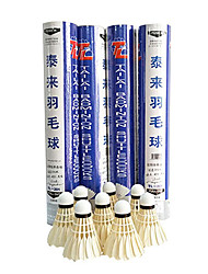12pcs Badminton Volants de plumes Etanche Durable Stabilité pour Plume d'oie